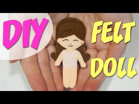 Кукла с одеждой из фетра своими руками