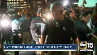 WOW! PHX Black Lives Matter Protesters Accost Donald Trump Supporter - Alton Sterling