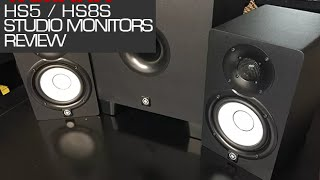 Yamaha HS5 / HS8S Powered Studio Monitors Review BBoyTechReport.com -