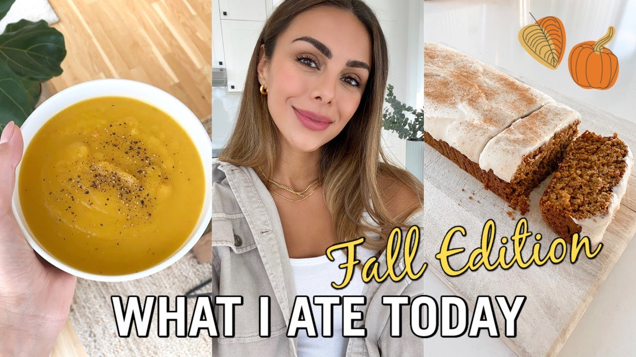 Download WHAT I ATE TODAY | New Fall Recipes & Healthy Pumpkin Bread | Annie Jaffrey