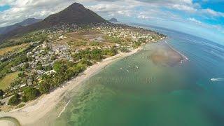 Серфинг урок под радугой на Маврикии. Так классно!