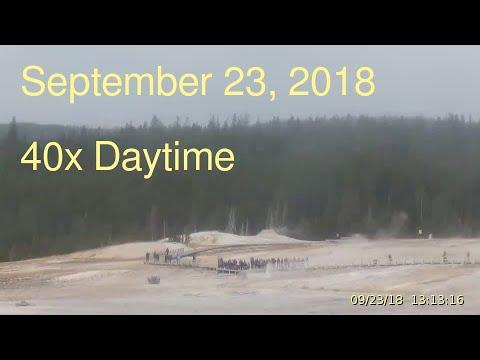 September 23, 2018 Upper Geyser Basin Daytime Streaming Camera Captures