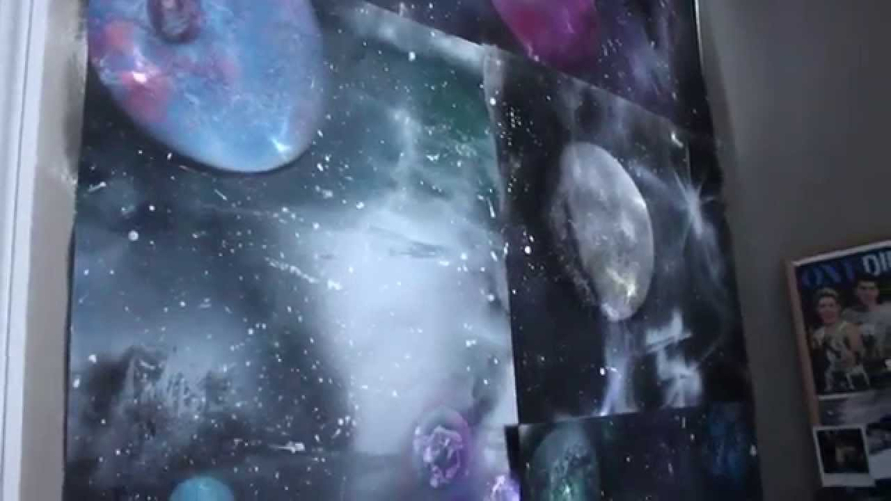 how to make a galaxy wall