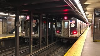 NYC Subway HD 60fps: Budd R32 & Alstom R160A C Trains Relaying on Express Tracks @ Euclid Avenue
