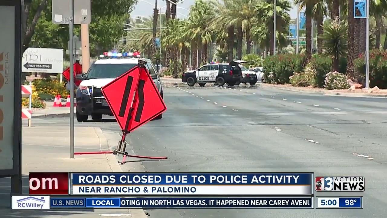 Roads closed near Rancho, Charleston due to police activity