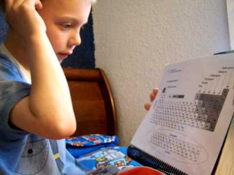 Six year old expert of the periodic table youtube for Periodic table 6 year old