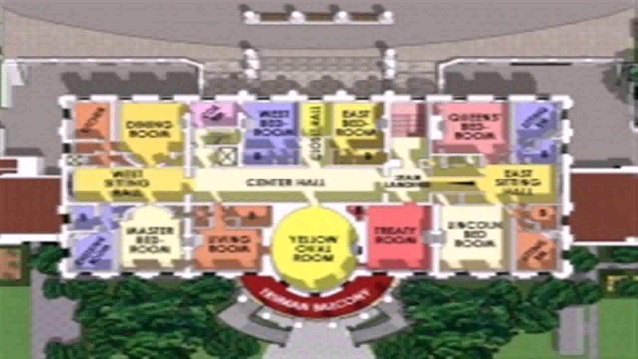Floor Plan Of The White House First Floor  YouTube