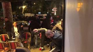 Les hooligans français attaquent les supporters serbes
