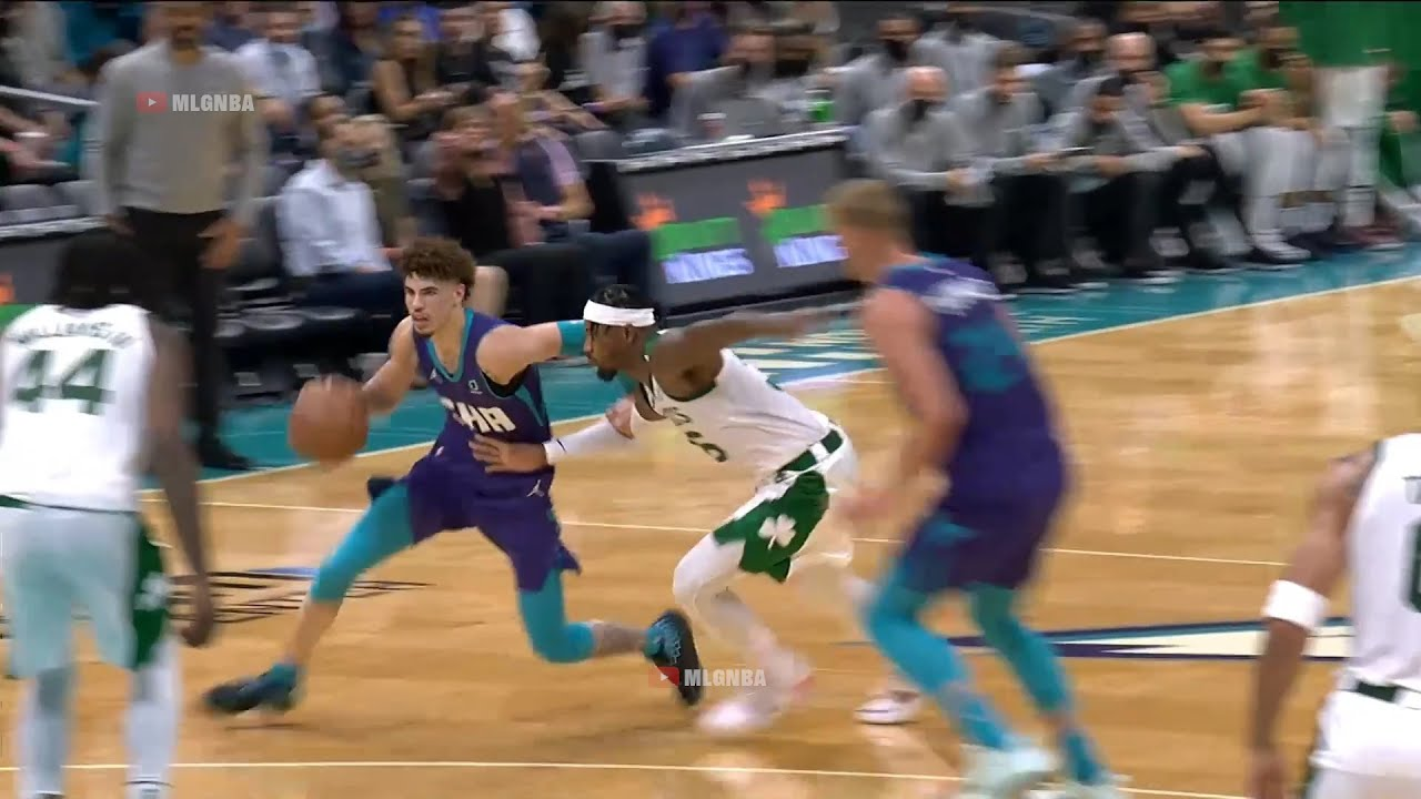 Download LaMelo Ball just crossed Marcus Smart into another dimension | Hornets vs Celtics