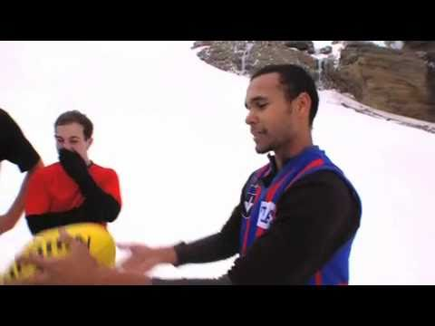 FIRST AFL FOOTBALL GAME IN ANTARCTICA