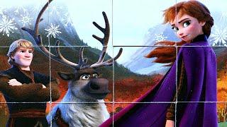 Холодное Сердце 2 - Анна Кристофф и Свен собираем кубики пазлы для детей  Frozen 2 | Danik and Lesha