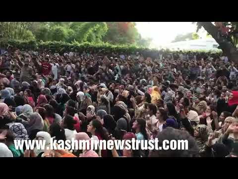 Kashmir News Trust: Aligarh Muslim University students want AZADI from Modi Rule
