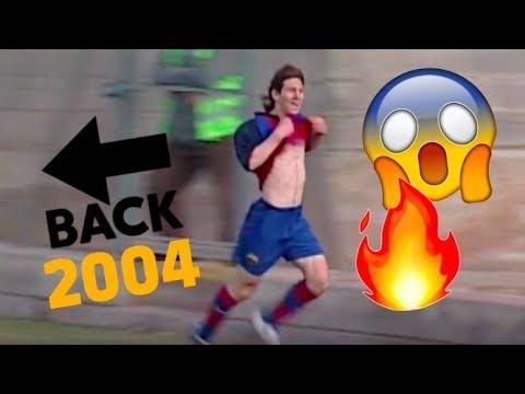 A los 16, Messi ya la rompía en el Barcelona