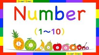 Let's count from 1 to 10 英語で数を数える 1から10まで数えてみよう! 数字の歌と一緒に練習してね 数字の勉強 子供のための知育ビデオ