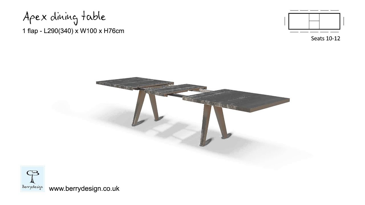 Apex extending dining table - YouTube