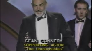Sean Connery winning Best Supporting Actor for The Untouchables