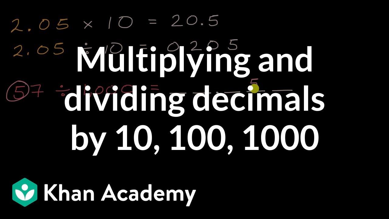 medium resolution of Multiplying and dividing decimals by 10