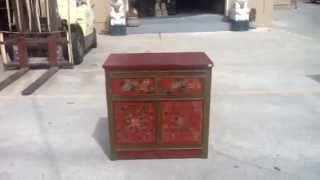 Tibetan Lotus Paint End Table