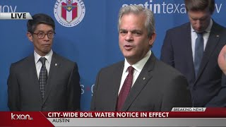 FULL PRESS CONFERENCE: Austin's boil water notice