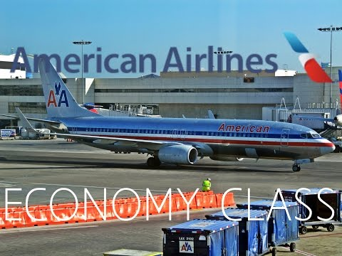 American Airlines ECONOMY CLASS Los Angeles to Dallas Ft Worth|Boeing 737-800