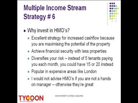 Multiple Income Streams System Video 6 - houses in multiple occupation