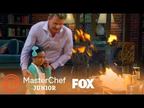Kya's Pan Is On Fire | Season 4 Ep. 7 | MASTERCHEF JUNIOR