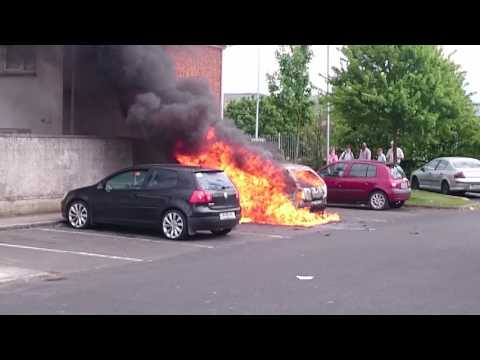 Tallaght car on fire,  explosion part 2, 17 May 2017