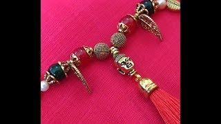 Buddha Rakhi Designs : How to Make Rakhi at Home   Handmade Rakhi I Rakhi for bhabhi I Lumba Rakhi I