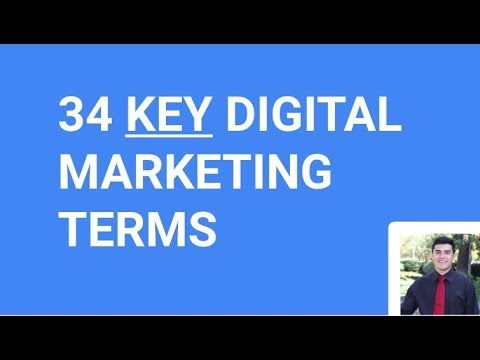 34 Key Digital Marketing Terms Part (1/3)