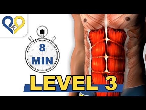 8 Min Abs Workout  Level 3  P4P Music
