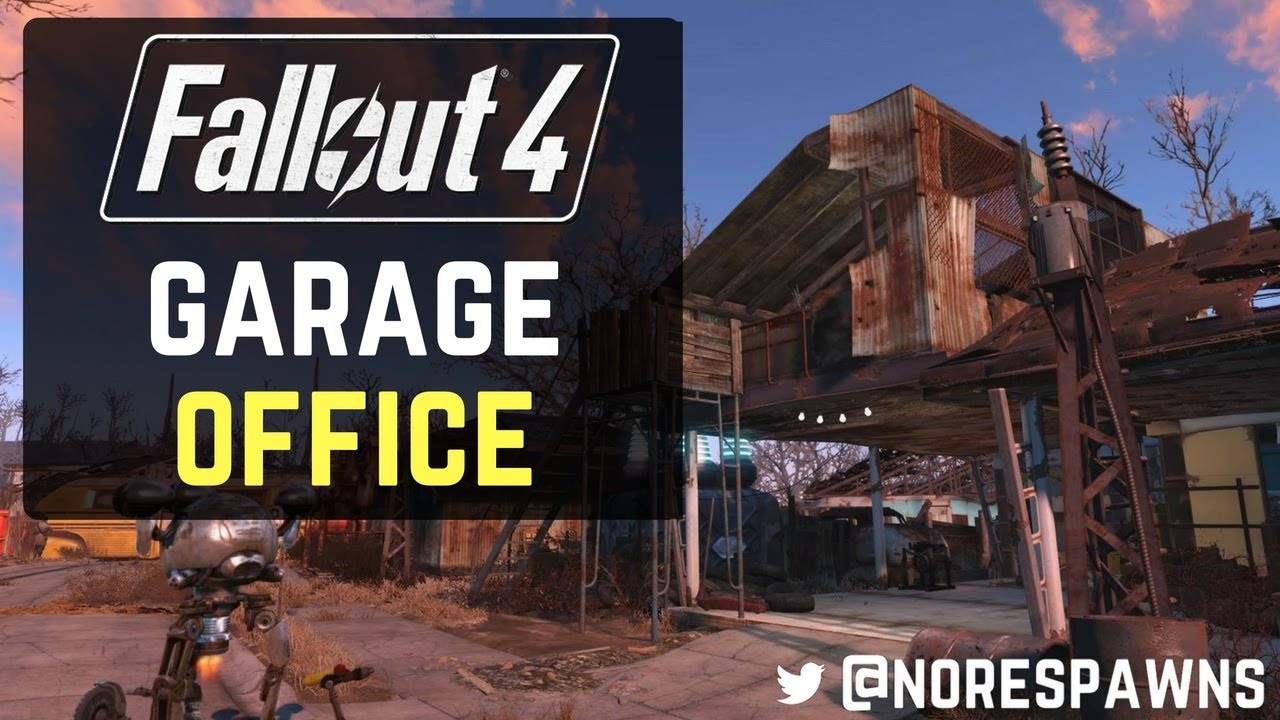 Fallout 4  Garage Office PS4 Modded Build  YouTube