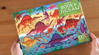 Dinosaurs puzzle book and jigsaw - Usborne