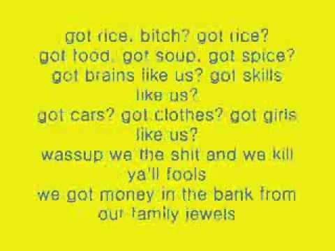 Asian pride lyrics got rice
