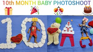 Monthly Baby Photoshoot at home - 10th Month | Diaper Theme | Creative Babyphotoshoot