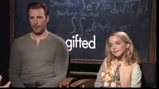 Chris Evans and McKenna Grace raw Interview Gifted