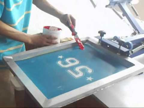 81fc1193 4 color 1 / 2 station silk screen printing t-shirt printing DIY t-shirt  transferring screen press
