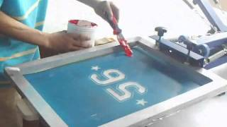 4 color 1 / 2 station silk screen printing t-shirt printing DIY t-shirt transferring screen press