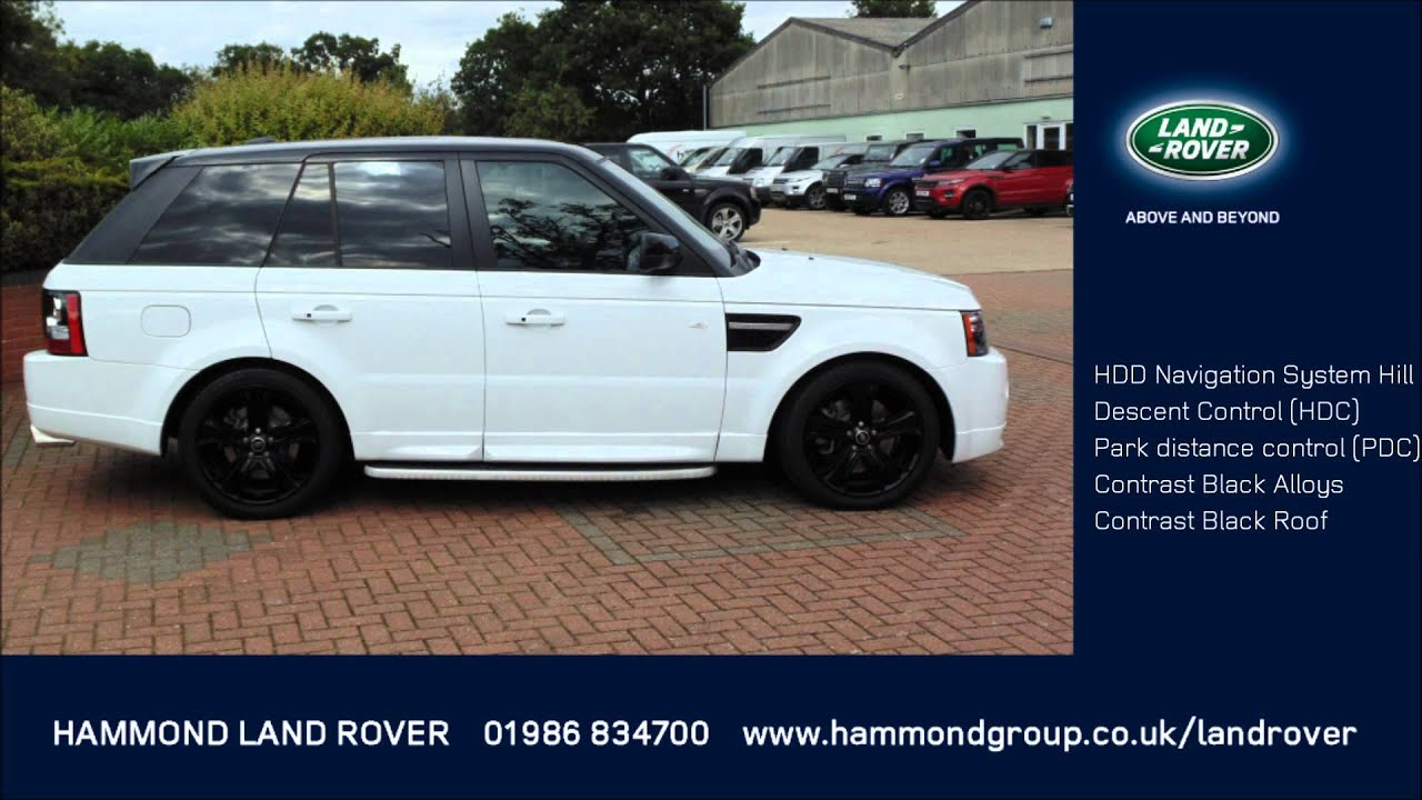 Range Rover Sport 3 0 SDV6 HSE Black Edition White with a Black
