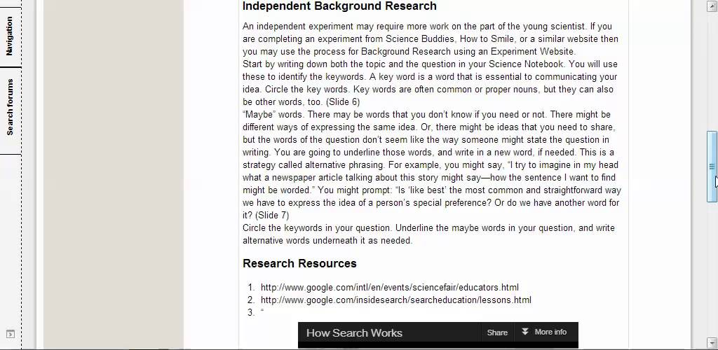 Science Fair 105 Background Research - YouTube - science project research