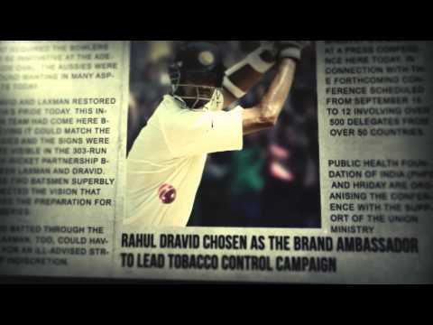 No More Tobacco : Rahul Dravid ad