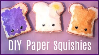 DIY PAPER Squishies! How to make a squishy without foam or puffy paint