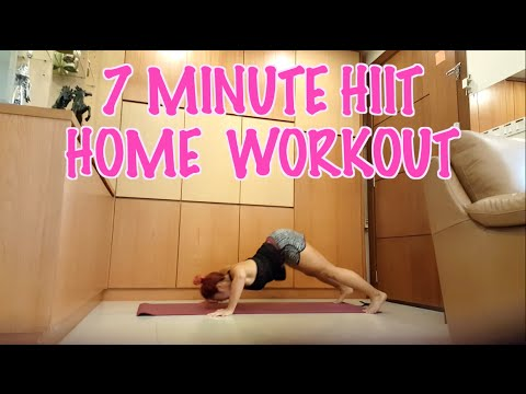 7 Minute Home HIIT Workout - YouTube