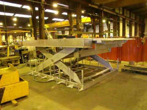 Table L Vatrice Cefam Fabrication Atlas Avec Niveleur De Quai Youtube