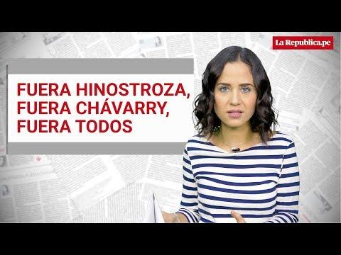 """Sigrid Bazán: """"Fuera Hinostroza, fuera Chávarry, fuera todos"""""""