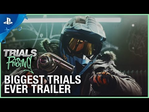Trials Rising - Biggest Trials Ever: Live Action Trailer   PS4