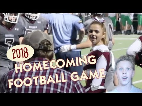 IT'S HOMECOMING FOOTBALL GAME DAY *Katie gets ready to cheer*