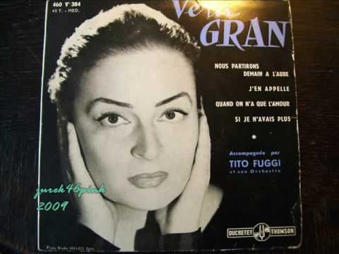 Wiera Gran sings Jacques Brel in ALHAMBRA Maurice Chevalier, Paris 1957/58