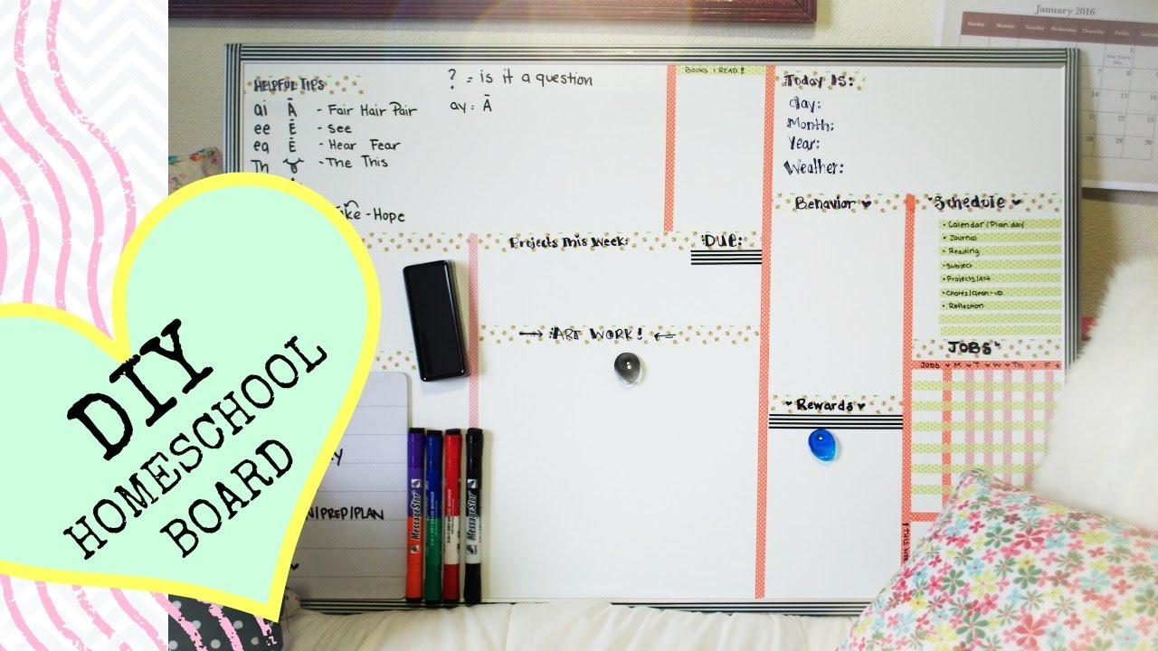 DIY Cute Homeschool White Board - YouTube