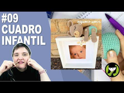 CUADRO INFANTIL AMIGURUMI 9 paso a paso