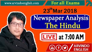 The Hindu || Daily News and Analysis ll 23 March 2018